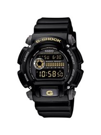 Men's G-Shock Watch With Backlight, Black Resin St