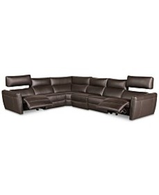 Fanna 6-Pc. Leather Sectional with 2 Power Recline