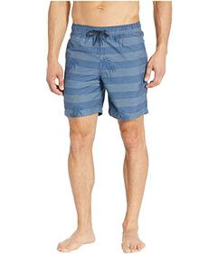 Ben Sherman Palm Print Elastic Volley Shorts