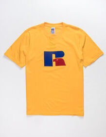 RUSSELL ATHLETIC Jerry Flock Gold Mens T-Shirt_