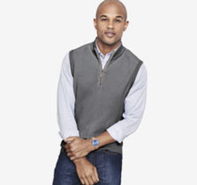 Johnston Murphy Quarter-Zip Sweater Vest