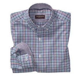 Johnston Murphy Slub Check Button-Down Collar Shir