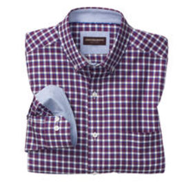 Johnston Murphy Contrast Edge Check Button-Down Co
