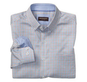 Johnston Murphy Mini-Grid Check Button-Down Collar