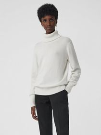 Burberry Embroidered Crest Cashmere Roll-neck Swea