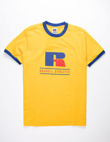 RUSSELL ATHLETIC Clanton Gold Mens Ringer Tee_