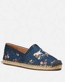 Coach casey espadrille with painted floral bow pri