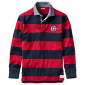 Timberland Men's Long Sleeve Striped Rugby Shirt