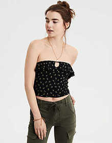American Eagle AE Soft & Sexy Ruffle Tube Top
