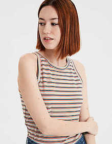 American Eagle AE Basic High Neck Tank Top