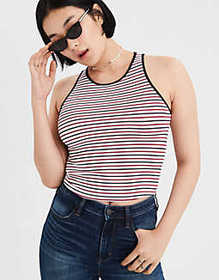 American Eagle AE High Neck Crop