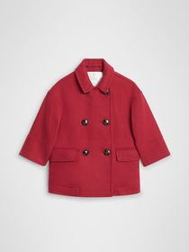 Burberry Double-faced Wool Pea Coat in Windsor Red