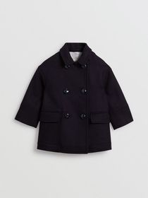 Burberry Double-faced Wool Pea Coat in Navy
