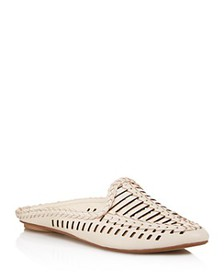 Dolce Vita - Women's Ginny Woven Leather Mules - 1