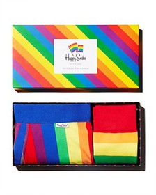 Happy Socks - Pride Rainbow Striped Socks & Boxer