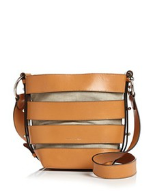 Rebecca Minkoff - Cage Leather Convertible Bucket