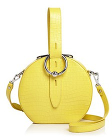 Rebecca Minkoff - Kate Croc-Embossed Leather Circl