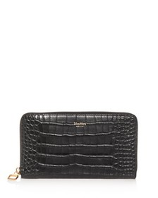 Max Mara - Croc-Embossed Leather Continental Walle