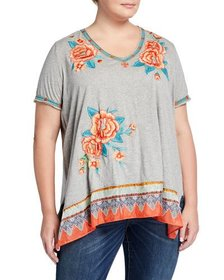 JWLA for Johnny Was Plus Size Aveline Floral Embro