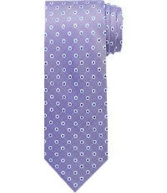 Jos Bank Traveler Collection Dotted Tie - Long CLE