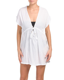 BLUE ISLAND Cotton Dobby Cover-up