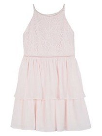 Ally B Girl's Lace A-Line Dress ROSE