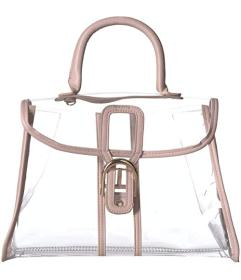 Rampage Clear Satchel with Interior Pouch