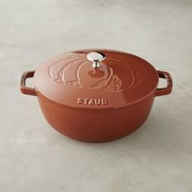 Staub Cast-Iron Essential French Oven, Pumpkin Des