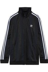 ADIDAS ORIGINALS Striped satin-jersey track jacket
