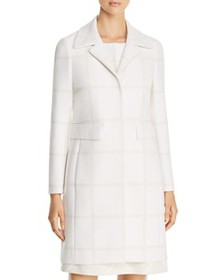 Elie Tahari - Orla Windowpane-Pattern Coat
