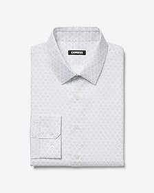 Express extra slim micro diamond print dress shirt