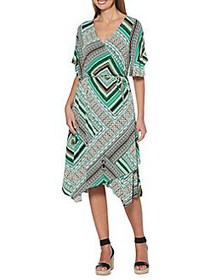 Rafaella Printed Wrap Dress SAMAON SUN MULTI