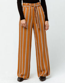 SKY AND SPARROW Stripe Womens Wide Leg Pants_