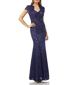 JS Collections - Lace Mermaid Gown