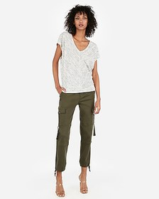 Express express one eleven heathered dolman tee