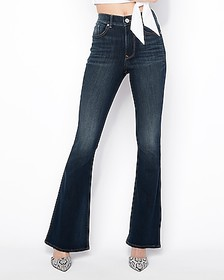 Express high waisted bell flare jeans