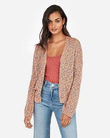 Express marled open stitch cardigan