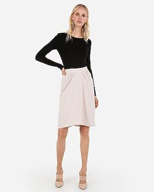 Express ruched front pencil skirt