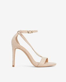 Express v-strap open toe heeled sandals