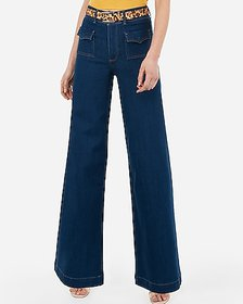 Express super high waisted pocket wide leg jeans