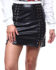 Fashion Lab studded faux leather skirt