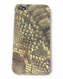 DJP OUTLET lime snake print premium leather iphone