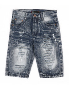 Akademiks ripped denim shorts (8-20)