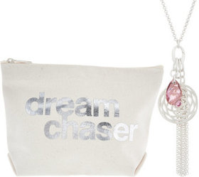 """""""As Is"""" Dogeared Venus Cluster Necklace and Pouch"""