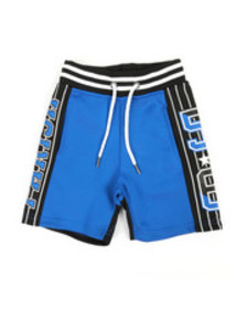 Parish color block shorts (2t-4t)