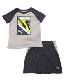 Puma poly performance s/s tee + short set (2t-4t)