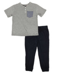 Ben Sherman 2 piece tee & pants set (4-7)