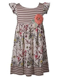 Iris & Ivy Little Girl's Striped Floral Empire Pan