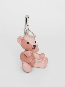 Burberry Thomas Bear Charm in Leather in Copper Pi
