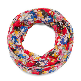 Sonic Characters Lightweight Infinity Scarf